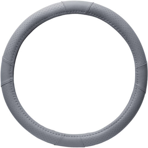 HD Faux Leather Steering Wheel Cover for Car/Truck/Van/SUV Perforated