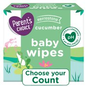 Parent's Choice Cucumber Scent Baby Wipes, 12 Packs of 100 (1200 Count)