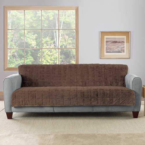 Sure Fit Faux Fur Armless Loveseat Throw