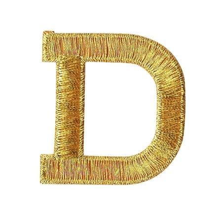 Alphabet Letter - D - Color Gold - 2