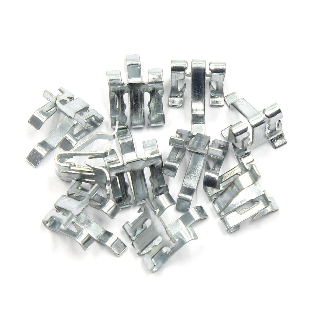 Car Dashboard Retainer Instrument Panel Trim Metal Clips 15 x 11mm 10pcs - image 3 de 3
