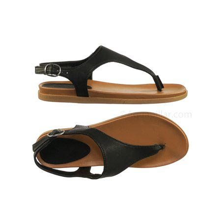 Mission67 by Bamboo, Vintage Rubber Thong Sandal - Womens Triangle T-Strap Ankle