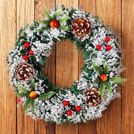 Christmas Wall Hanging (Wall Hanging Christmas Wreath Decoration For Xmas Party Door Garland Ornament )