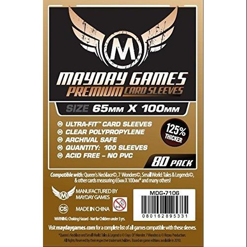 Mayday Games - 80 Premium 7 Wonders Sleeves 65x100mm (2 pack)