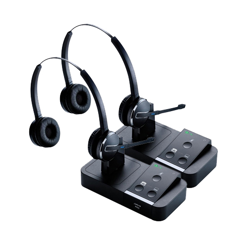 Jabra Pro 9450 Duo Wireless Headset W Peakstop Technology 2 Pack Walmart Com