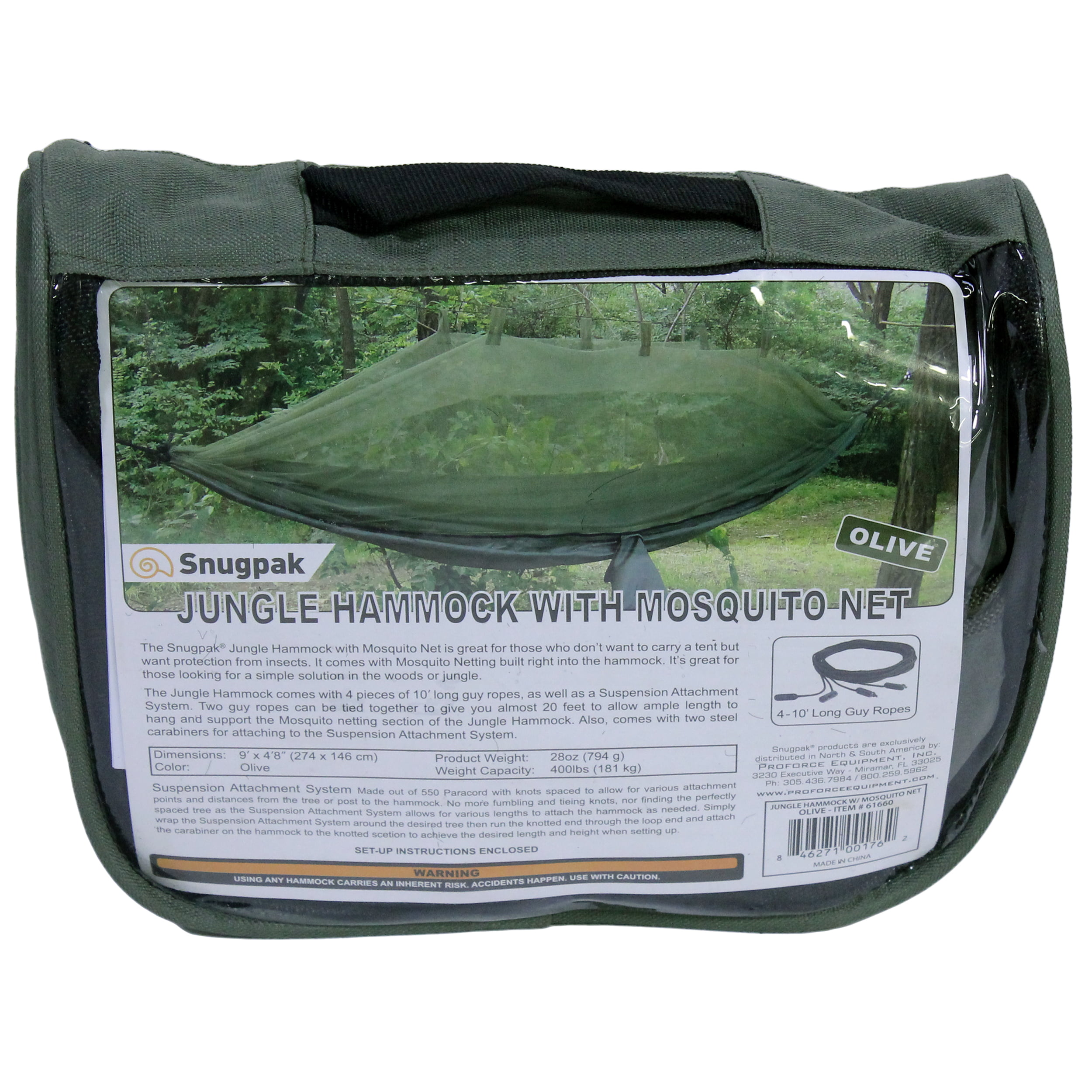 Proforce Equipment Jungle Hammock with Mosquito Net, Olive by Proforce Equipment
