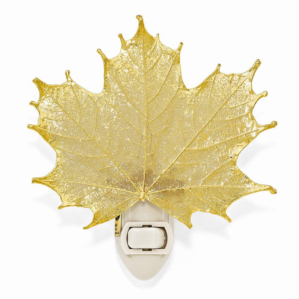 24k Gold Dipped Sugar Maple Leaf Nightlight