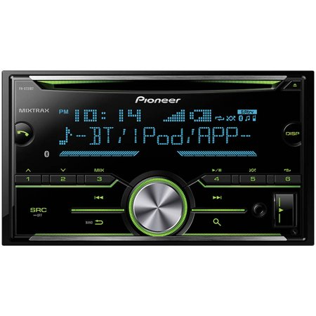 pioneer fh x731bt 2 din am fm cd ipod car stereo with. Black Bedroom Furniture Sets. Home Design Ideas
