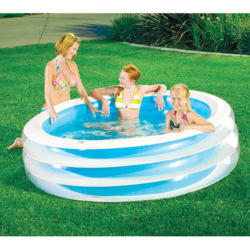 "My Sunshine 80"" x 22"" Round Family Inflatable Swimming Pool"