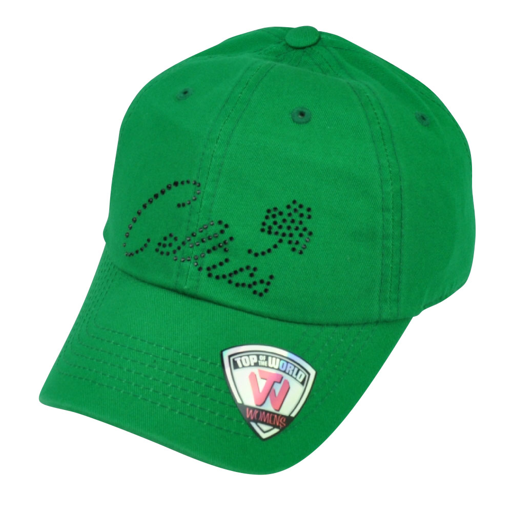 NBA Boston Celtics Top of the World Womens Green Rhinestone Hat Cap Sun Buckle