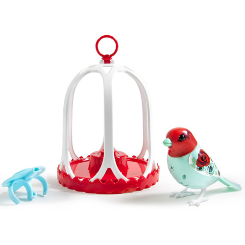 DigiBirds Bird with Bird Cage, Rose