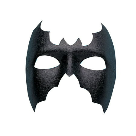 Black Bat Phantom Mask Hero Villain Adult Halloween Costume Accessory - Villains Halloween Party Mix