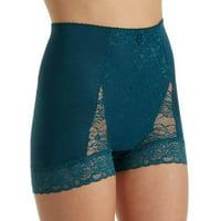 Rhonda Shear Pin Up Full Coverage Boyshort Panties 606-971 Choose Size & Color (XS (0-2),Lilac)