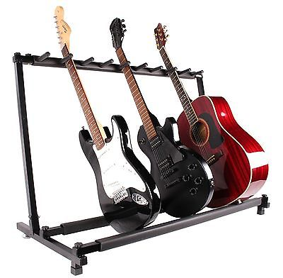 Guitar Stand 9 Holder Guitar Folding Stand Rack Band Stage Bass Acoustic Guitar by LESHP