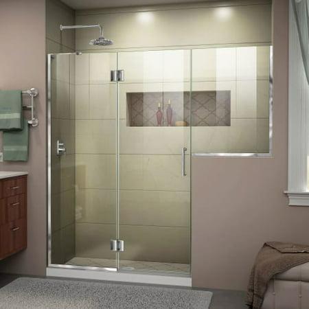 DreamLine Unidoor-X 71-71 1/2 in. W x 72 in. H Frameless Hinged Shower Door in Chrome