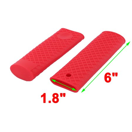 Silicone Hot Handle Holder Metal Cookware Handles Sleeve Grip Handle Covers Red - image 1 of 3