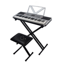 Sawtooth 54 Key Portable Piano Keyboard with Stand, Bench, Earbuds