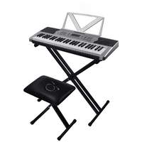 Sawtooth 54 Key Portable Piano Keyboard with Stand, Bench, Earbuds, 50 Preset Songs, 160 sounds & Built in Metronome