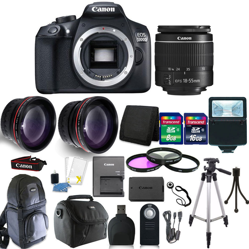 Canon EOS Rebel 1300D/T6 18MP DSLR Camera + 18-55mm  Lens...