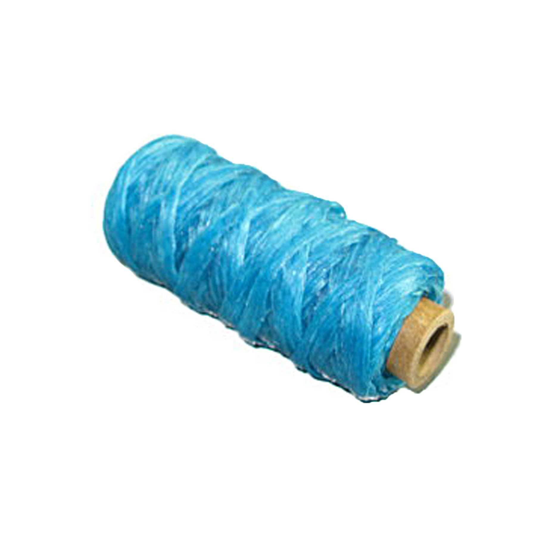 Red Artificial Sinew Bobbin 20 Yard 50 lb Test Waxed Beading Craft Thread