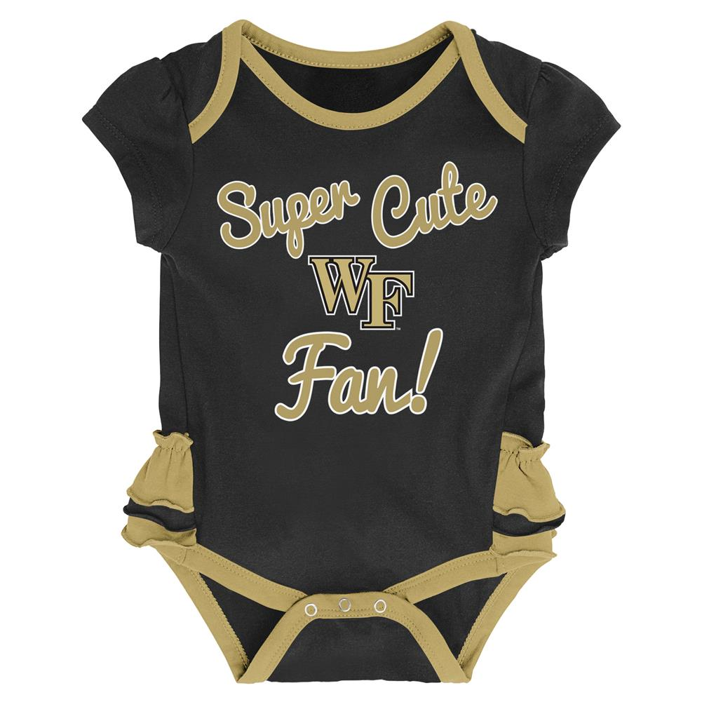 Wake Forest University Creeper, Bib and Bootie Set Infant Set