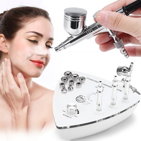 (Yosoo Water Oxygen Moisturizing Injection Spray Gun With Diamond Dermabrasion Microdermabrasion Device Double Action Gravity Trigger for Water Replenishing Skin Rejuvenation Wrinkle Removal Clean Pore)