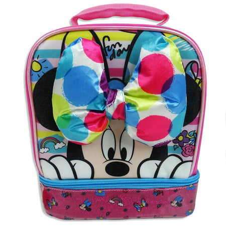 Oil Cloth Lunch Bag (Minnie Mouse Dual Compartment Lunch Bag (mccod98-w))
