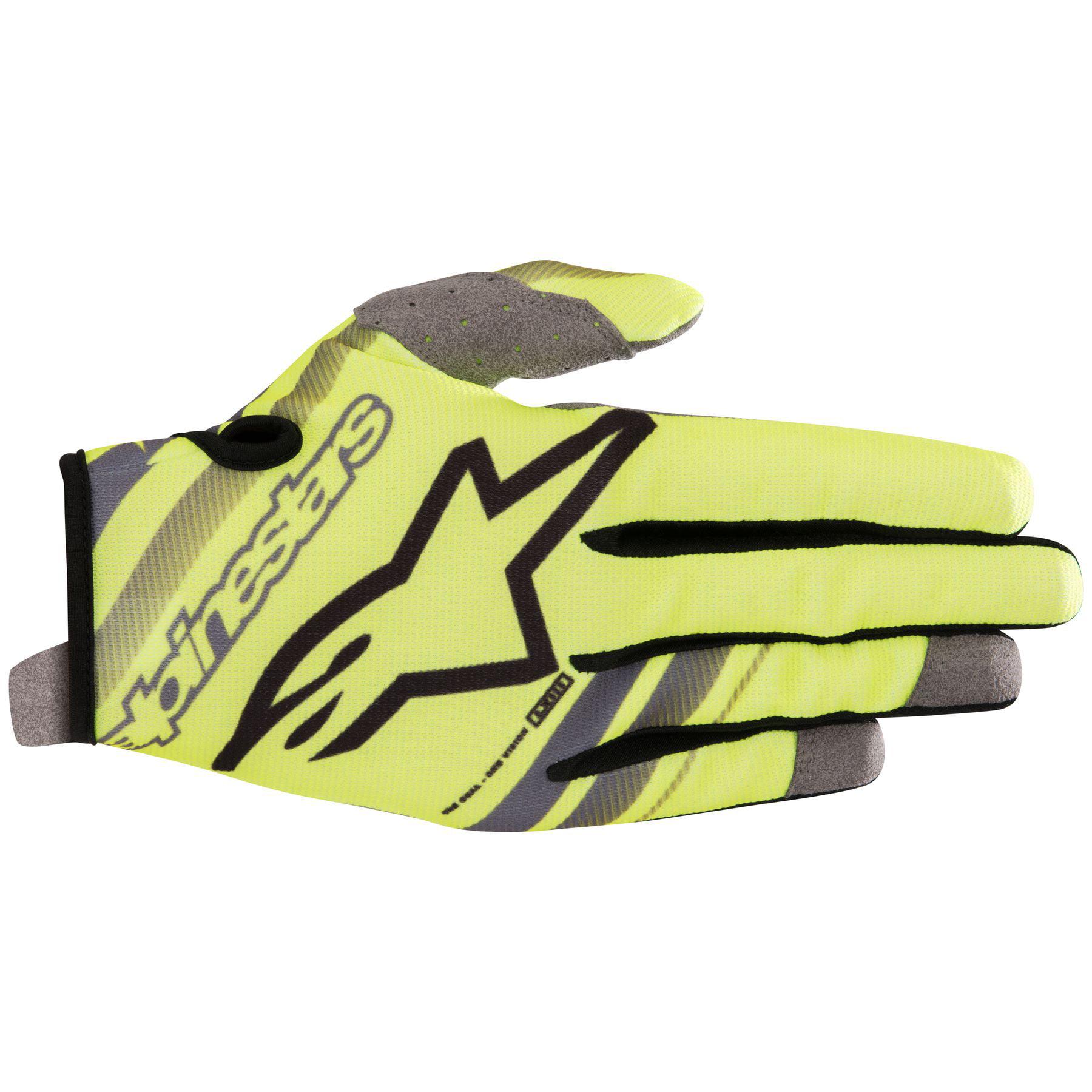 Alpinestars Radar S9 MX Offroad Gloves Yellow/Gray