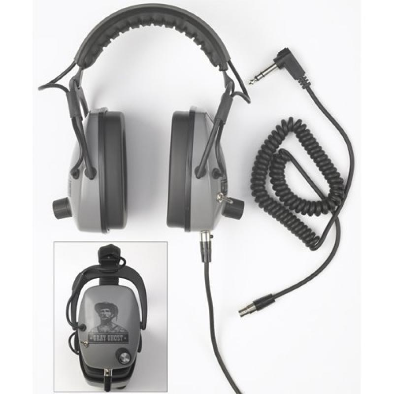 Detectorpro Gray Ghost Ndt Metal Detector Headphones