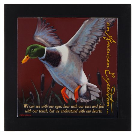 Mallard Duck Wood Framed Trivet