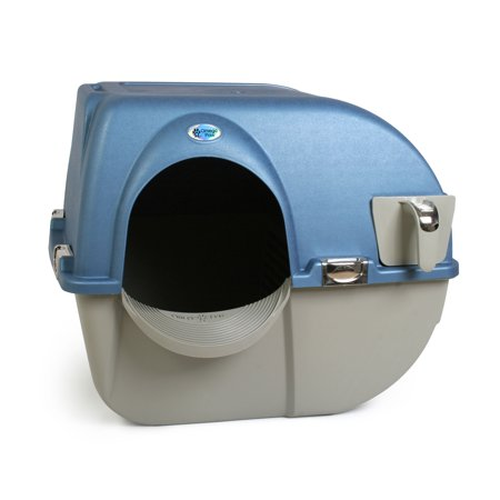 Omega Paw Premium Roll 'n Clean Self Cleaning Cat Litter Box,