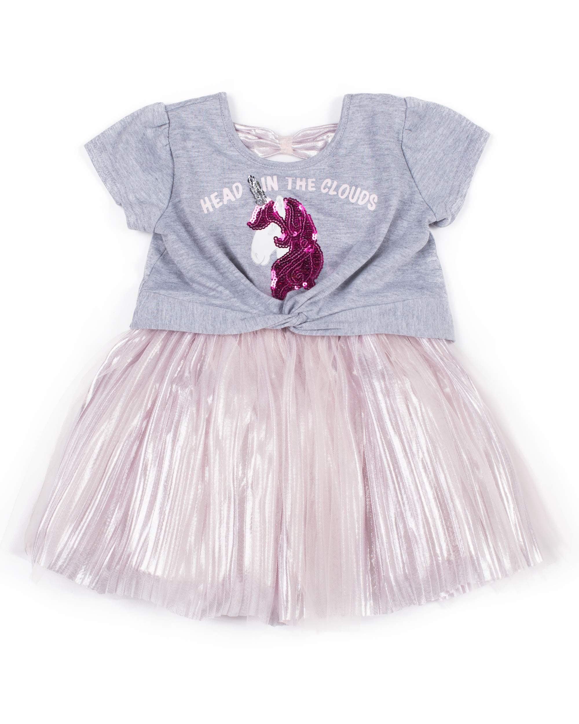 Unicorn Tulle Dress (Little Girls)