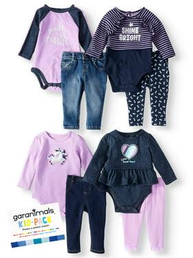 Garanimals Kid-Pack Gift Box, 8pc Set (Baby Girls)