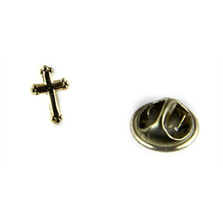 Christian Cross Lapel Pin Tie Tack Religious Brooch Pin Church Servant Jesus Christ - Cross Pins