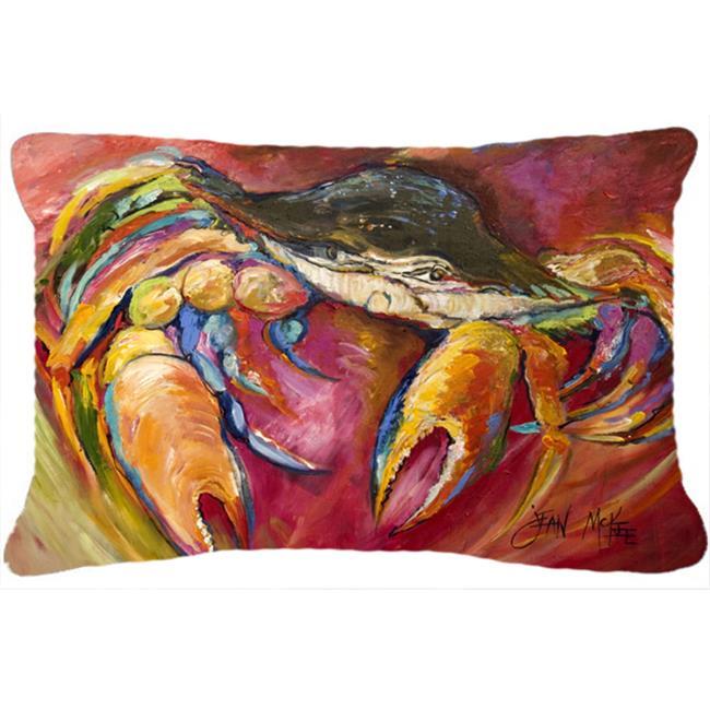 Carolines Treasures JMK1105PW1216 Blue Crab Stars Canvas Fabric Decorative Pillow - image 1 de 1