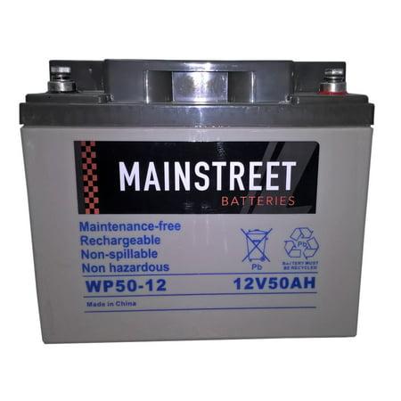 Main Street WP50-12 Sealed AGM Battery 12V 50Ah Agm Sealed Gel Battery