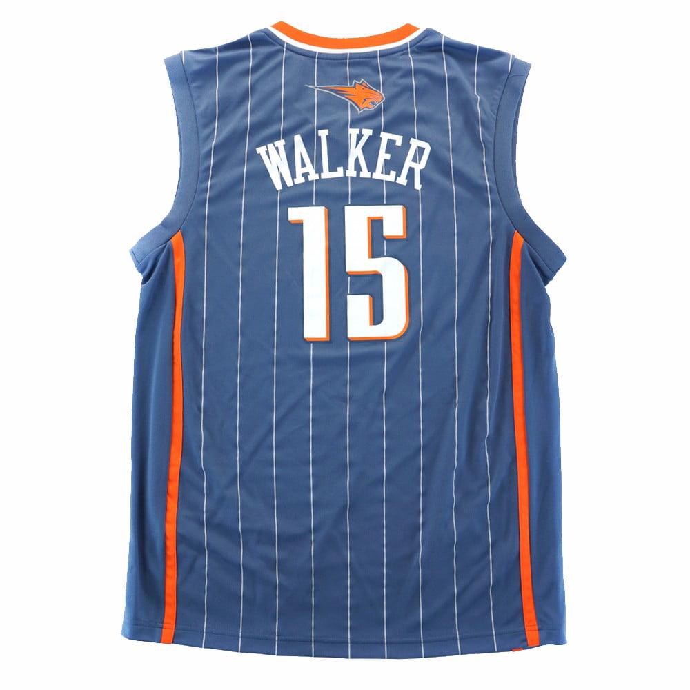 finest selection 22cd4 e514b Kemba Walker Charlotte Bobcats NBA Adidas Men's Grey Official Replica Jersey