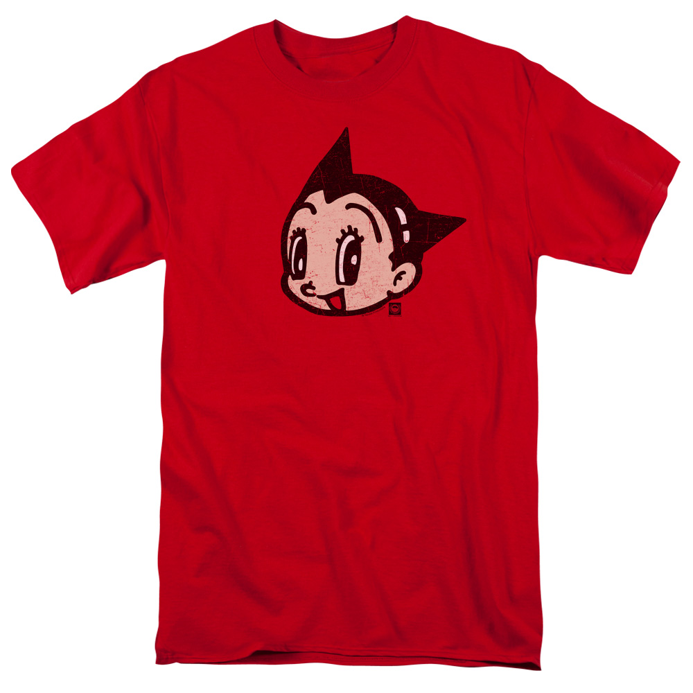 Astro Boy Face Mens Short Sleeve Shirt