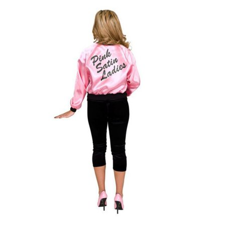 pink satin ladies adult jacket - Pink Ladies Grease Jacket