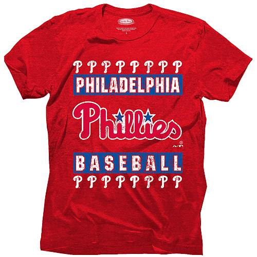 Philadelphia Phillies Majestic Threads Tri-Blend T-Shirt - Red