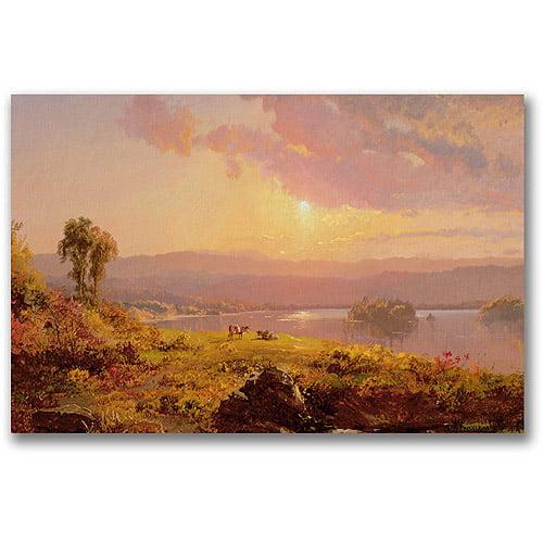 "Trademark Fine Art ""Susuehanna River"" Canvas Wall Art by Jasper Cropsey"