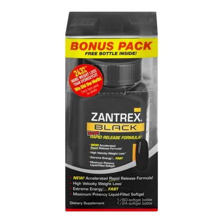 ZANTREX NOIR Perte de Poids et énergie de Suppléments Alimentaires 84 Ct