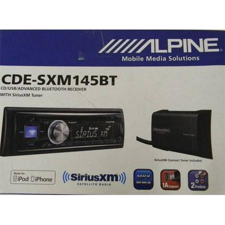 Alpine Cde Sxm145bt  Bluetooth Cd Siriusxm Car Stereo