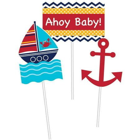 Creative Converting Ahoy Matey Nautical Diy Centerpiece Sticks, 3 - Nautical Centerpiece