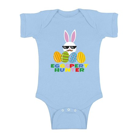 Awkward Styles Eggspert Hunter Baby Bodysuit Short Sleeve Easter One Piece Top for Baby Easter Holiday Gifts Easter Hunter Bunny Bodysuit Funny Easter Bunny One Piece First Easter Outfit for Baby](Baby Bunnies For Sale In Chicago)