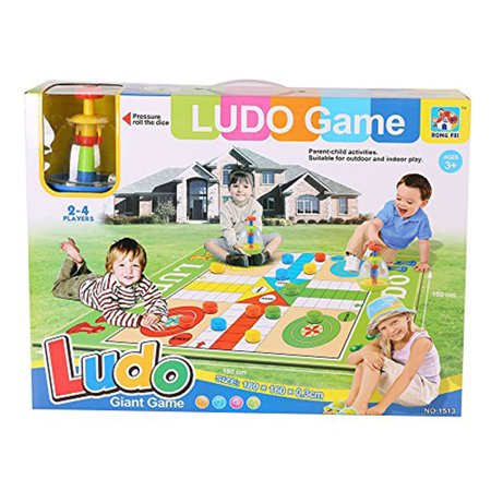 KARMAS PRODUCT Family Floor Board Foldable Game Ludo Giant Educational Toy