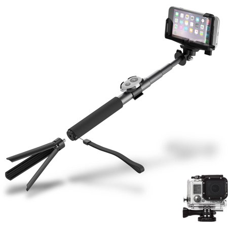 cygnett gostick bluetooth camera selfie stick tripod black. Black Bedroom Furniture Sets. Home Design Ideas