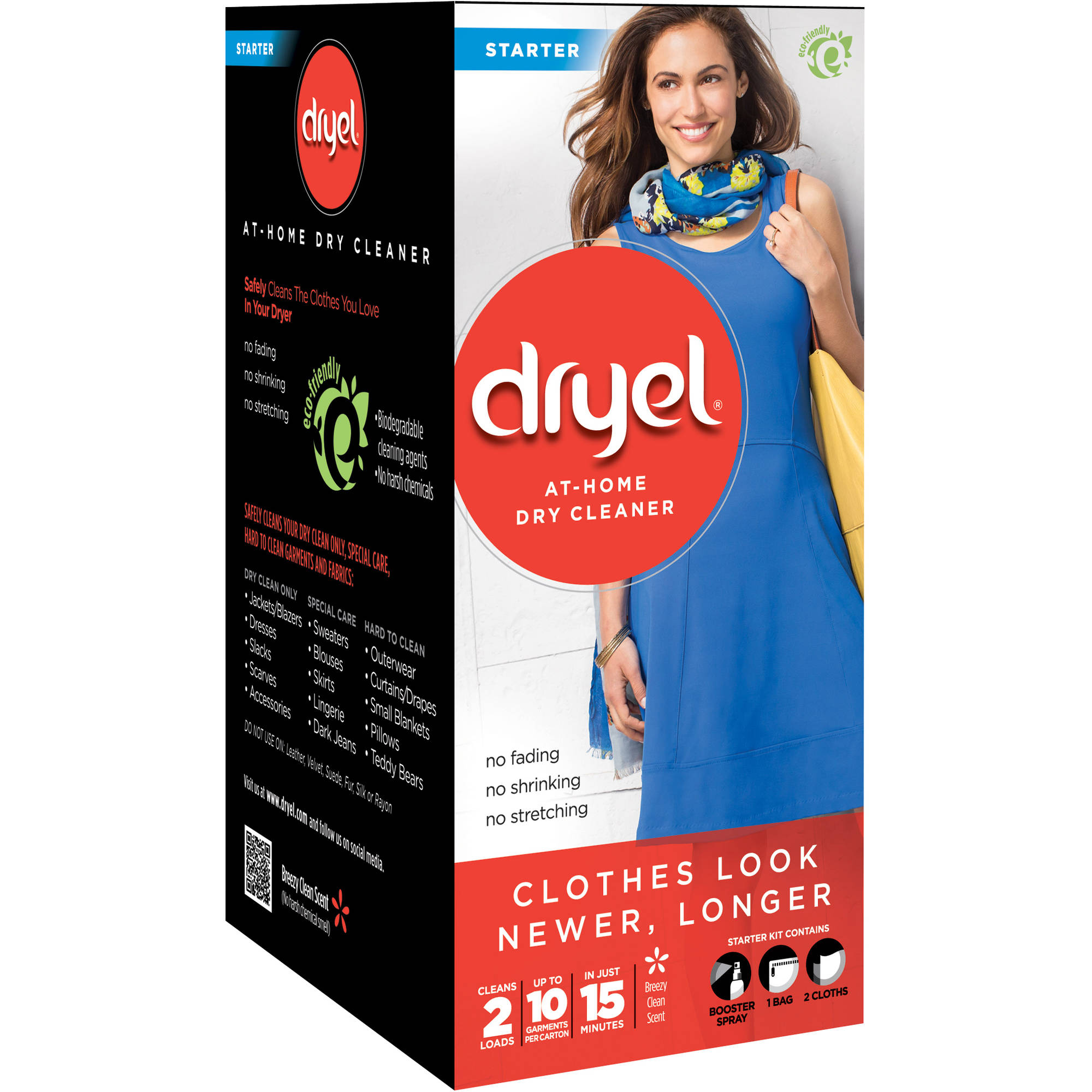 Dryel 30-Minute In-Dryer Cleaner Starter Kit, 4 Count