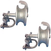 "CHAIN LINK ROLLING GATE TRACK WHEEL ROLLERS: to 2"" Gate Frame & 1-5/8"" Track Pipe 2 PACK."
