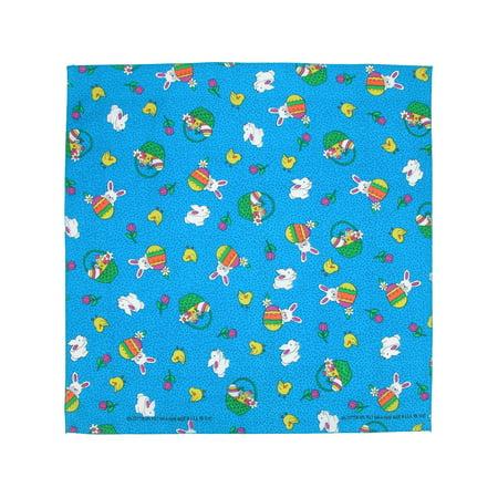 - Size one size Bunny Patch Easter Print Bandana, Blue